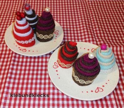 Kuchenstücke aus Filz