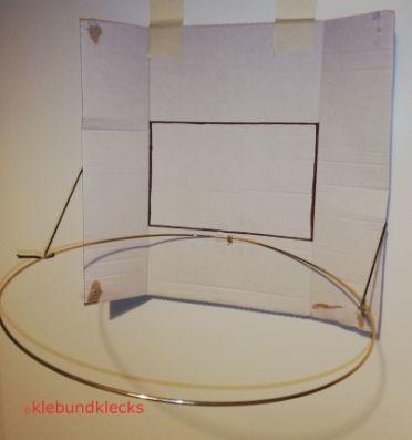 selbstgebastelter Baskettballkorb für Lernspiele