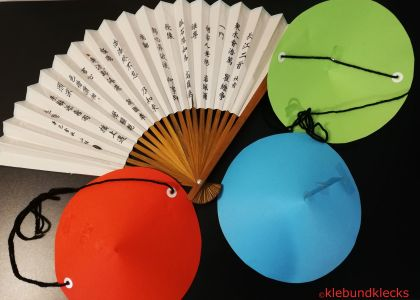 gebastelter Chinesenhut aus Papier