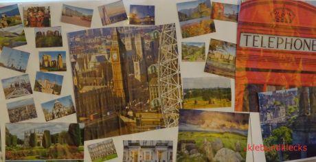 Collage als Dekoration für Weltreise