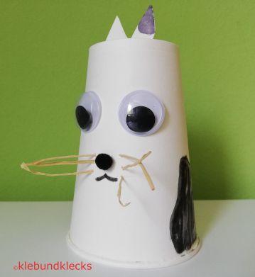 Papptier Katze