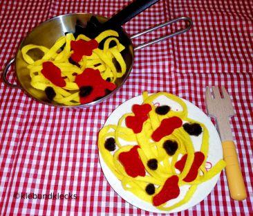 Spaghetti Bolognese aus Filz