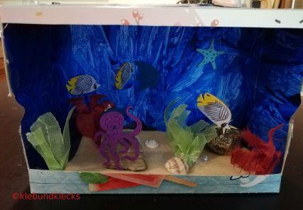 sekbstgebasteltes Aquarium zum Spielen