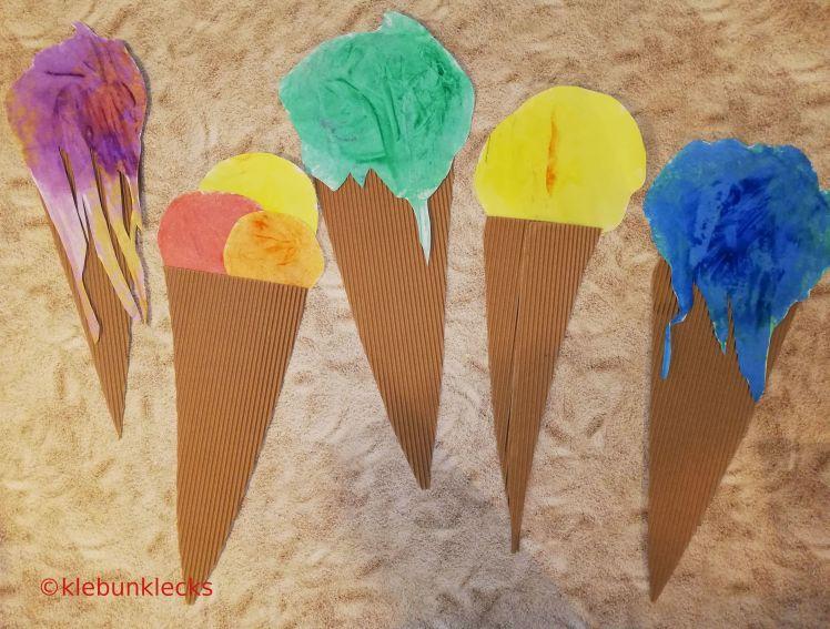gemaltes Eis