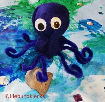 selbstgemachte Meerestiere: Oktopus aus Filz