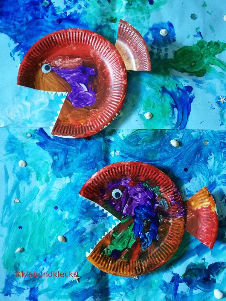 Fische aus Pappteller