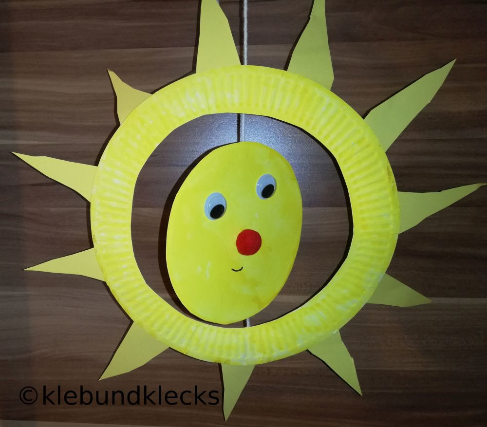 Sonne aus Pappteller