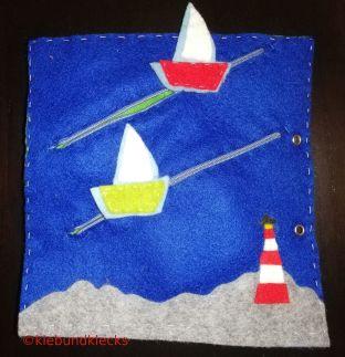 Bootsrennen aus Filz für Quiet Book