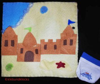 Sandburg aus Filz für Quiet Book