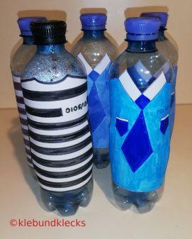 Dekoideen für Trinkflaschen Polizist/Sträfling