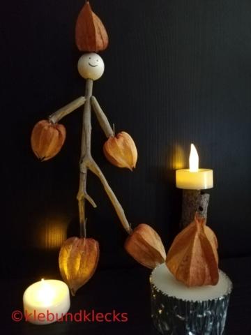 Bastelei aus Lampionblumen