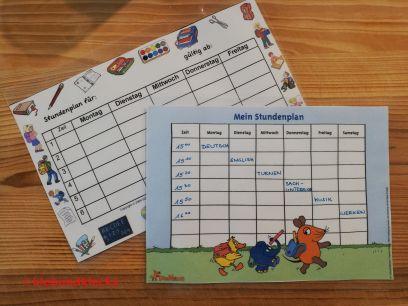 Stundenplan für Mottoparty Schule