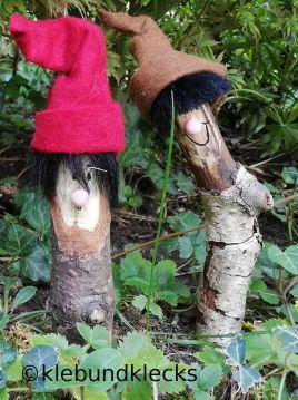 Holzwichtel aus Stecken und Filz