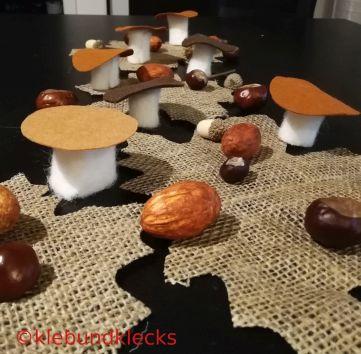 Pilze aus Filz