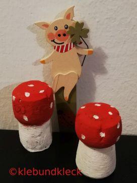 Sektkorken als Glücks-Pilze