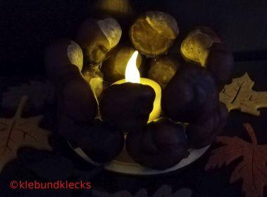 Teelichter aus Naturmaterialien