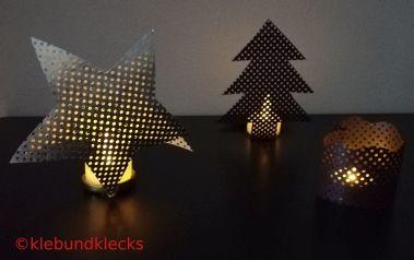 Teelichter aus Lochkarton