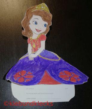 Einladung Kleid der Prinzessin
