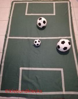 Decke als Fußballfeld fürs Ambiente