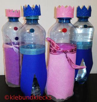 Trinkflaschen in Prinzessin- und Prinzenoptik