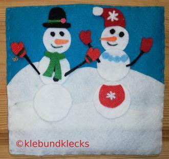 Schneemänner aus Filz - Quiet Book