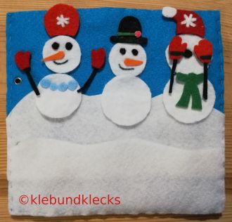 Schneemänner aus Filz
