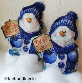 Schneemänner aus Servietten