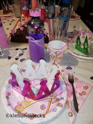 Deko des Geburtstagstisches