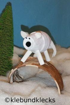 Polarfuchs aus Tontöpfen