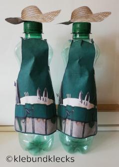 Trinkflasche als Gärtner