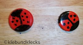 Marienkäfer aus Kronkorken und Verschlusskappen