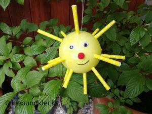 Sonne aus Styroporkugel