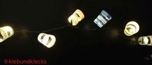 Lichterkette aus Plastikbechern