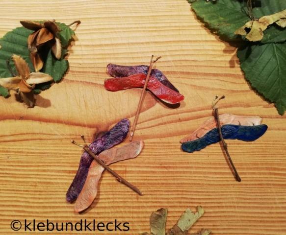 Libellen aus Ahornsamen