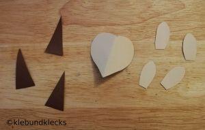 Igel-Gesicht und Stacheln aus Papier