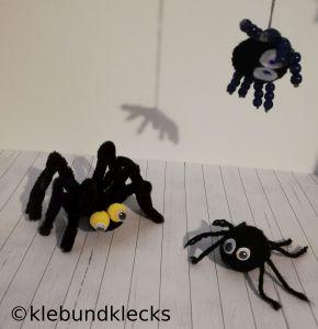 selbstgebastelte Spinnen