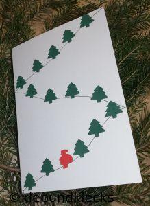 selbgebastelte Weihnachtskarten