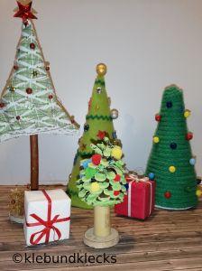 gebastelte Weihnachtsbäume