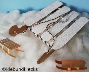 Schlitten aus Karton oder Holz