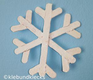 Holz-Schneeflocken