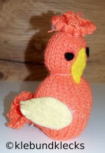 Hühner aus Strickschläuchen