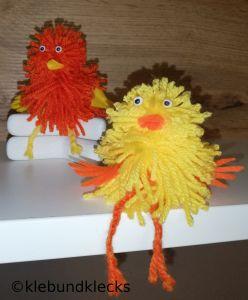 Hühner aus Wolle