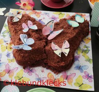 Kuchen in Schmetterlingsform