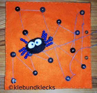 Spinnen-Labyrinth fürs Quiet-Book