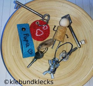 selbstgemachter Schlüsselanhänger
