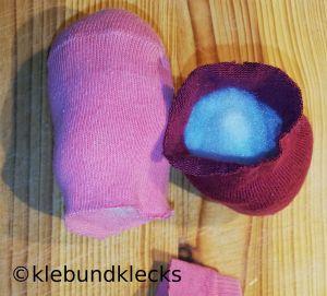 Socken mit Füllwatte
