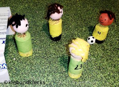 Fußballspieler aus Korken