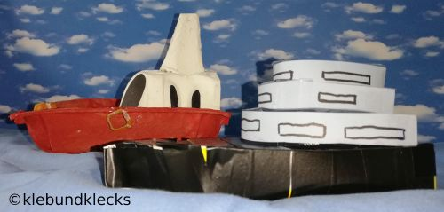 gebastelte Yacht
