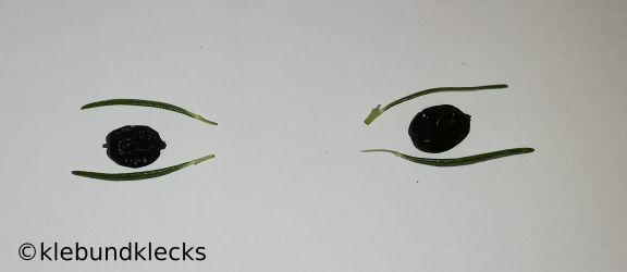Blütenkind-Augen aus Beeren und Rosmarin